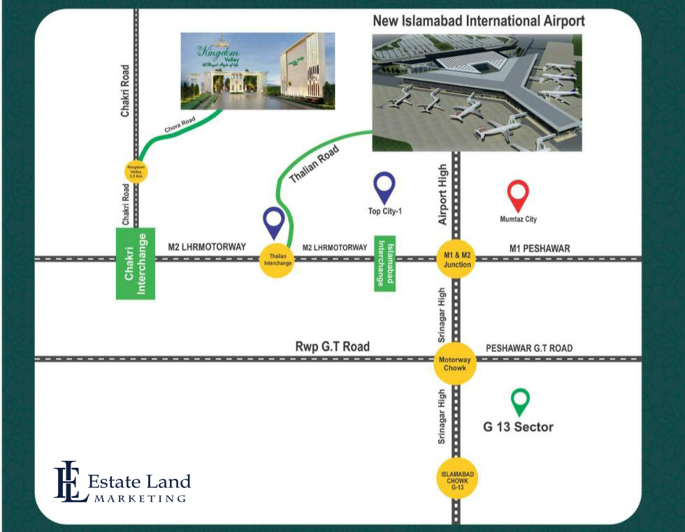 Kingdom Valley Islamabad Location Map