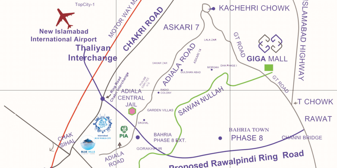 Impact of ring on real estate location map