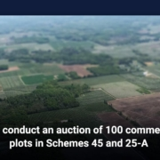MDA conduct an auction of 100 commercial plots in Schemes 45 and 25-A