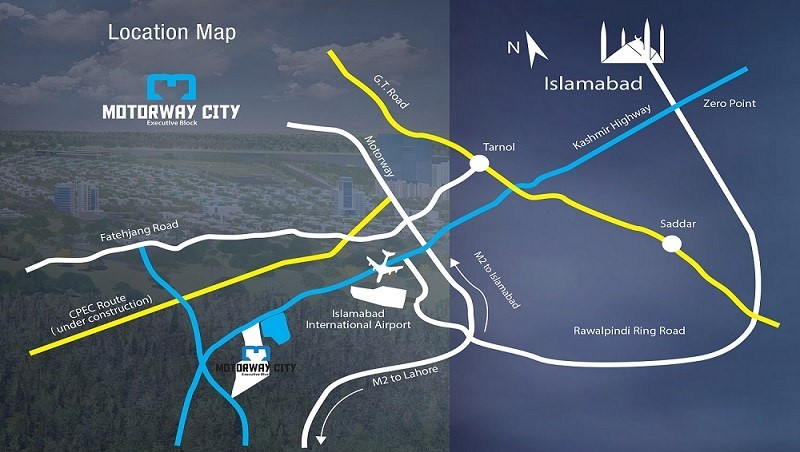 Motorway City Executive Block location map