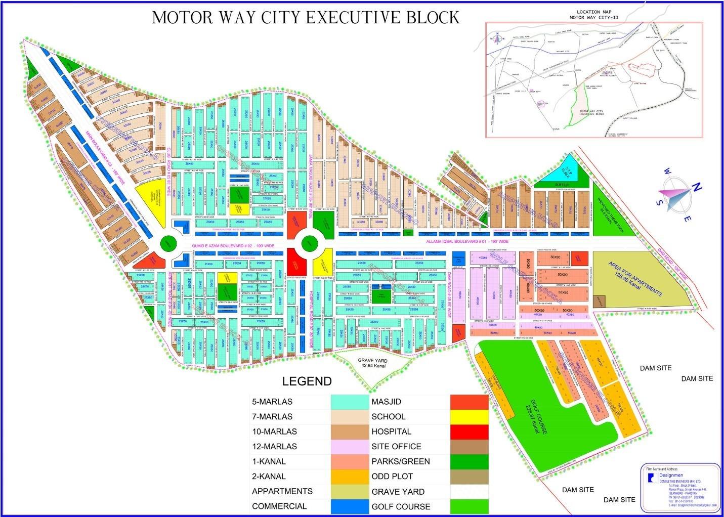 master plan of Motorway City Executive Block
