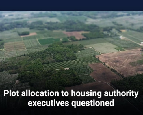 Plot allocation to housing authority executives questioned