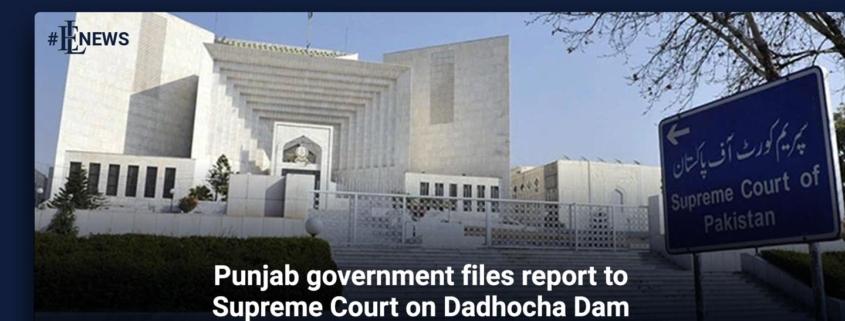 Punjab government files report to Supreme Court on Dadhocha Dam