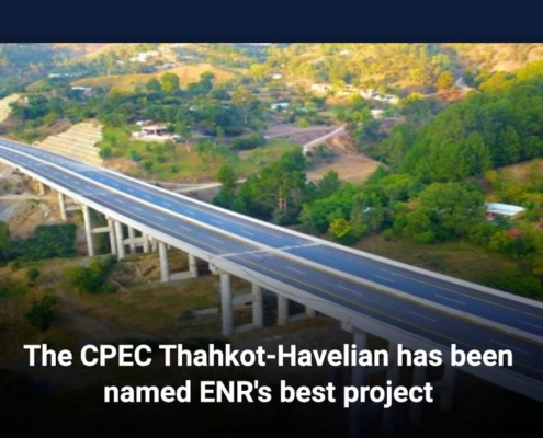 The CPEC Thahkot-Havelian has been named ENR's best project