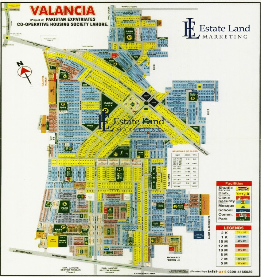 master plan of Valencia town Lahore